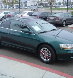 2002 accord ex v6 coupe noble green pearl ivory photo 3 [ 1024 x 768 Pixel ]
