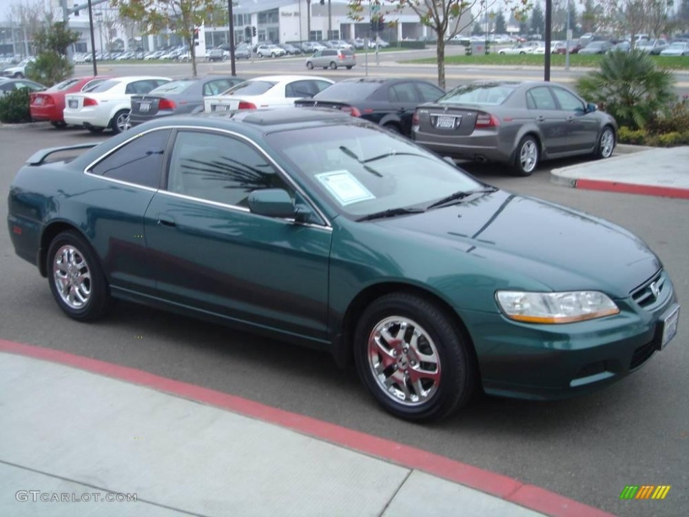 medium resolution of 2002 accord ex v6 coupe noble green pearl ivory photo 3