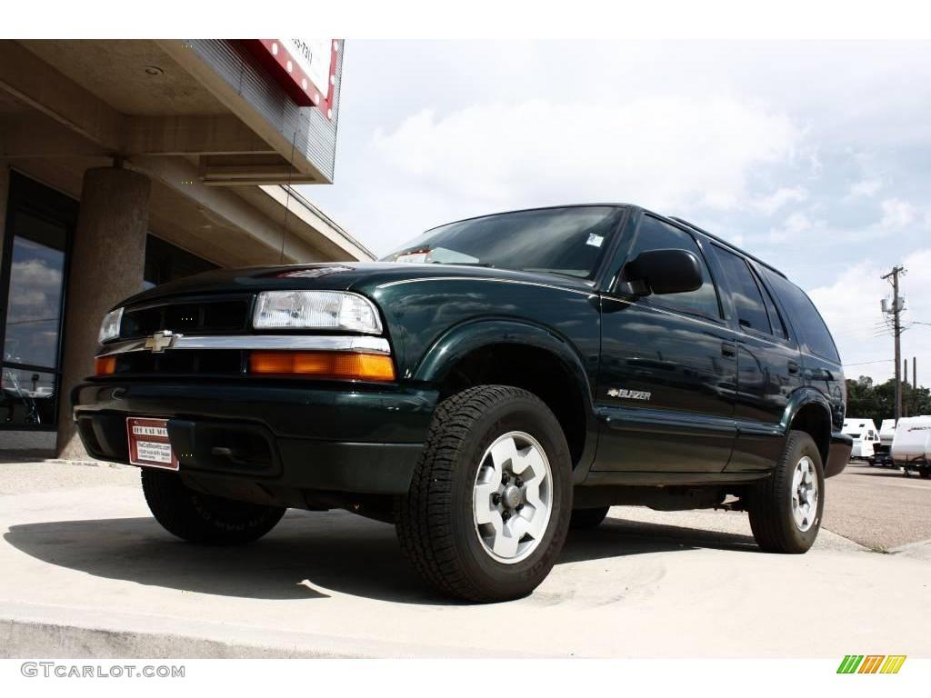 hight resolution of 2003 blazer ls 4x4 dark green metallic medium gray photo 14