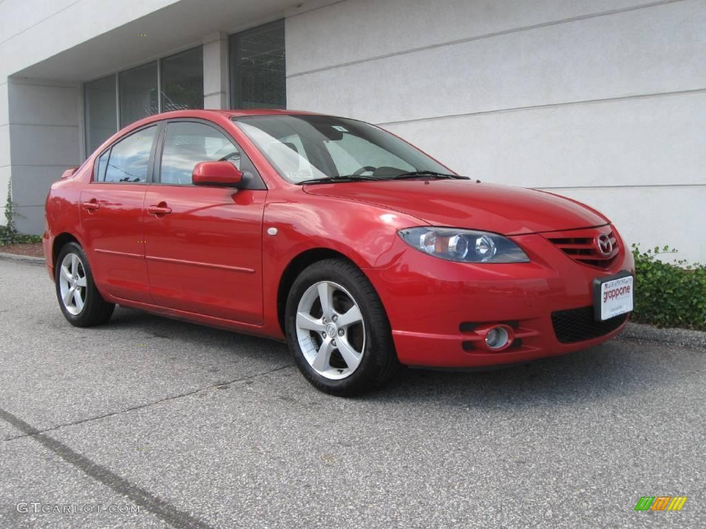 hight resolution of 2005 mazda3 s sedan velocity red mica black red photo 1