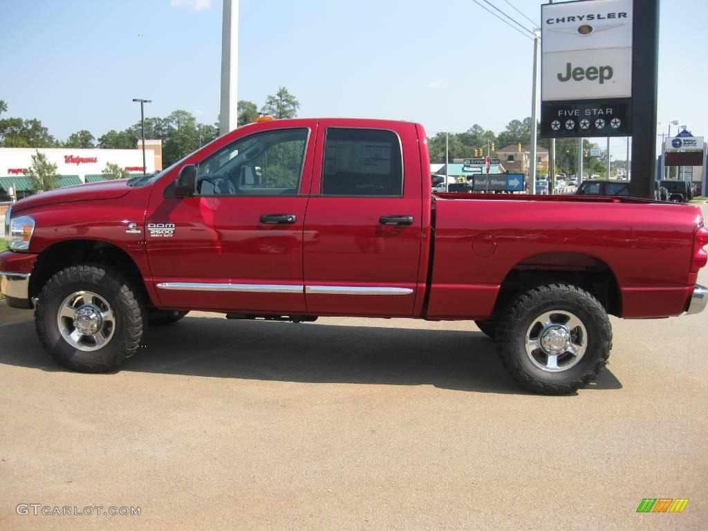 hight resolution of 2009 ram 2500 slt quad cab 4x4 inferno red crystal pearl medium slate gray