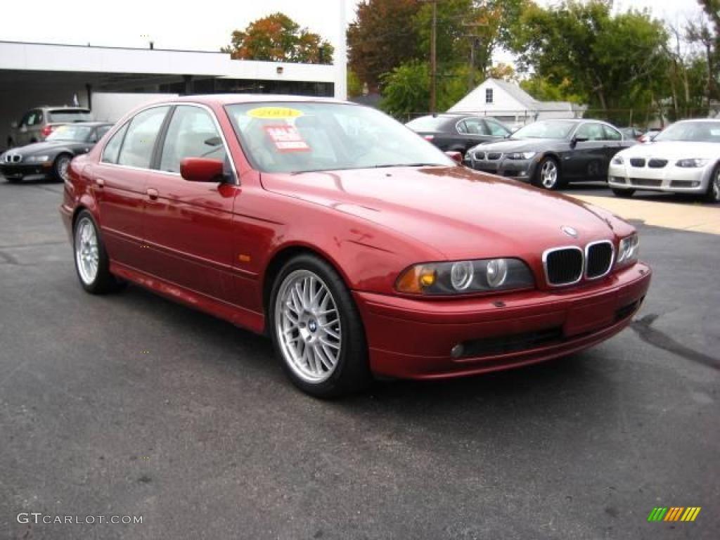 hight resolution of 2001 5 series 525i sedan siena red metallic sand beige photo 1