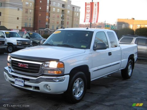 small resolution of 2005 sierra 1500 z71 extended cab 4x4 summit white dark pewter photo 2