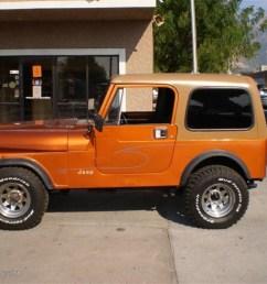 orange metallic jeep cj7 [ 1024 x 768 Pixel ]