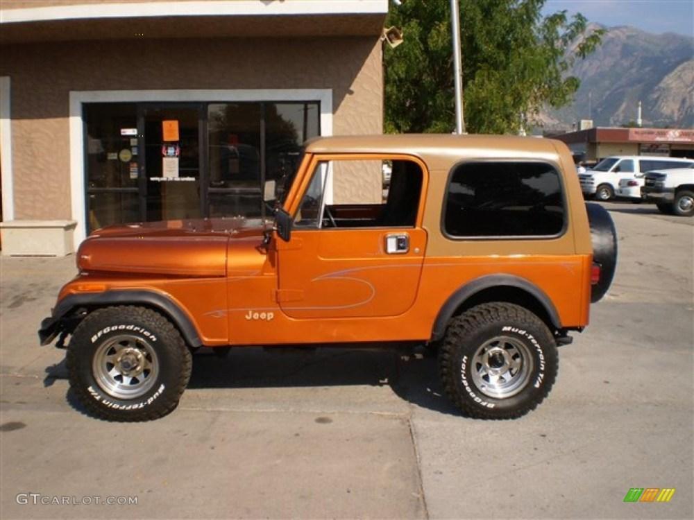 medium resolution of orange metallic jeep cj7