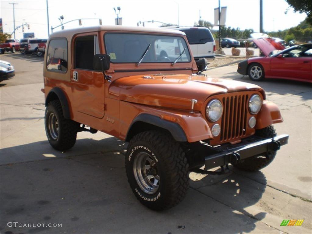 hight resolution of 1985 cj7 4x4 orange metallic dark gray photo 4