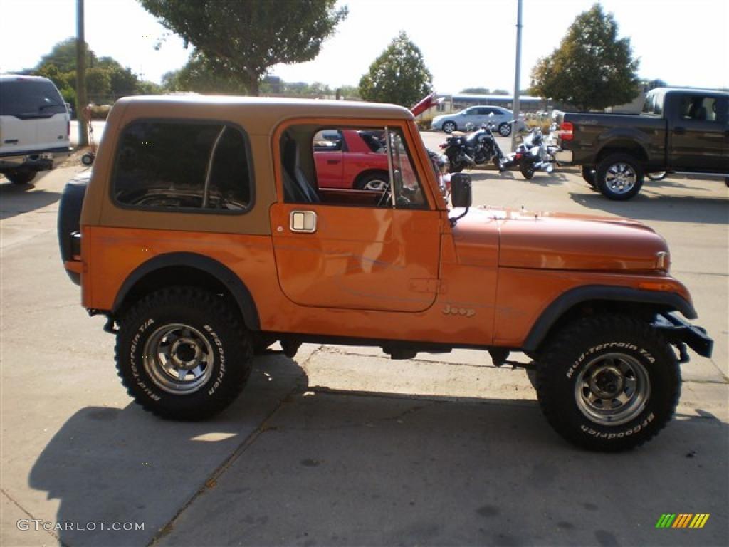 hight resolution of 1985 cj7 4x4 orange metallic dark gray photo 5