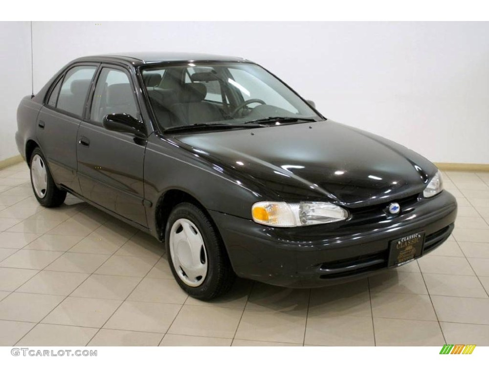 medium resolution of 2001 black metallic chevrolet prizm 25352814
