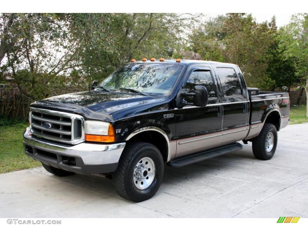 hight resolution of 1999 black ford f250 super duty lariat crew cab 4x4 26307540