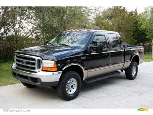 small resolution of 1999 black ford f250 super duty lariat crew cab 4x4 26307540