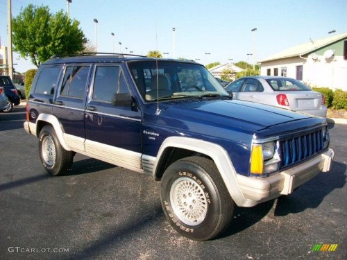 small resolution of 1996 cherokee country dark blue pearl tan photo 3