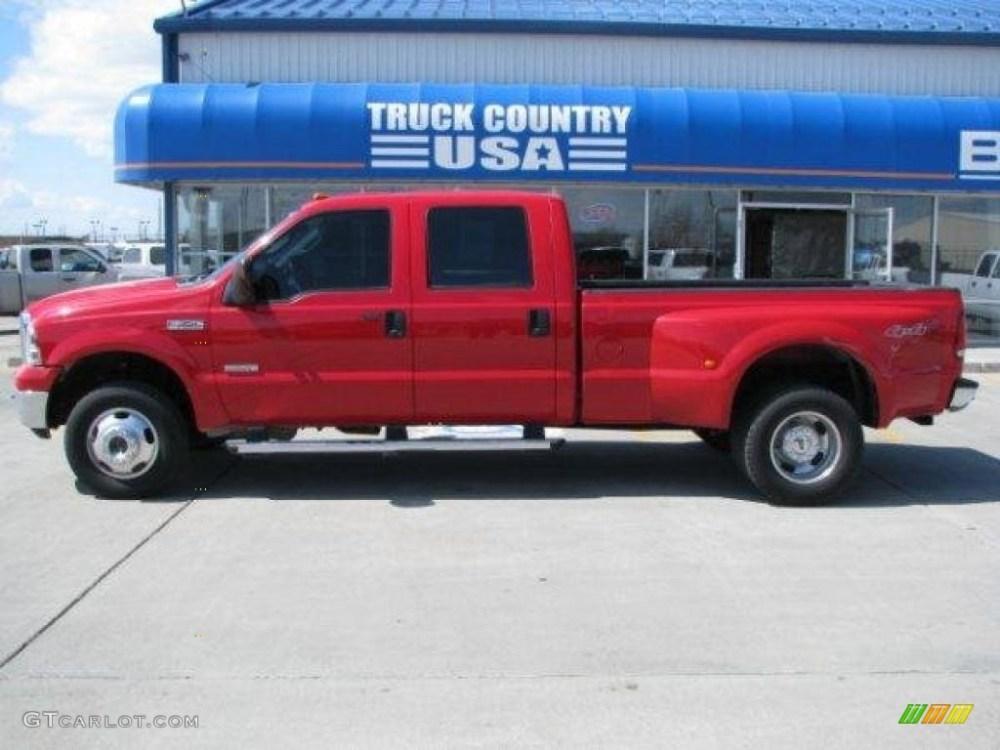 medium resolution of 2006 f350 super duty xlt crew cab 4x4 dually red clearcoat medium flint photo
