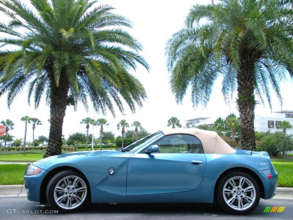 hight resolution of maldives blue metallic bmw z4 bmw z4 3 0i roadster