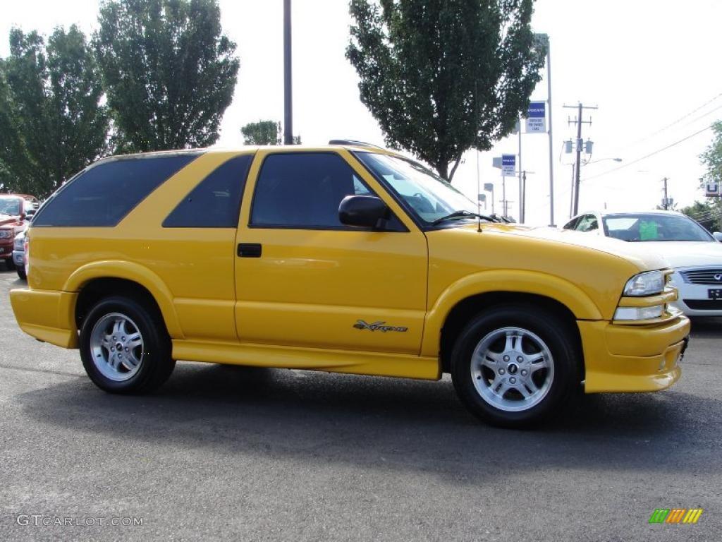 hight resolution of 2003 blazer xtreme yellow medium gray photo 14