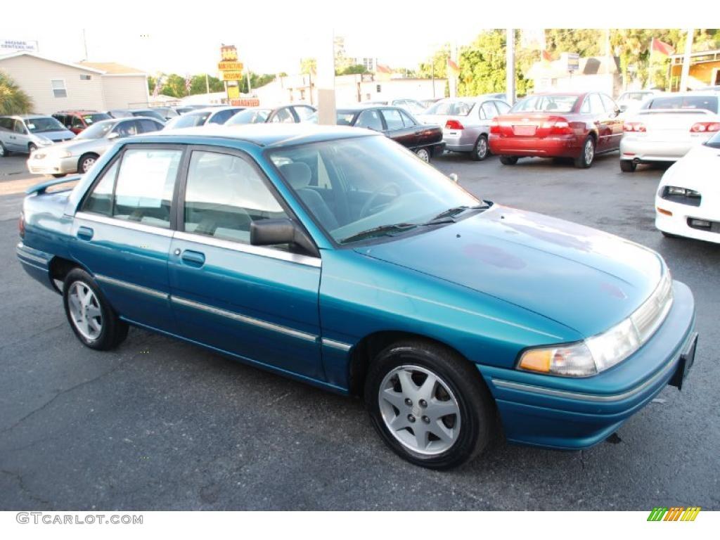 hight resolution of 1995 bright calypso green metallic mercury tracer sedan 33606467 photo 2