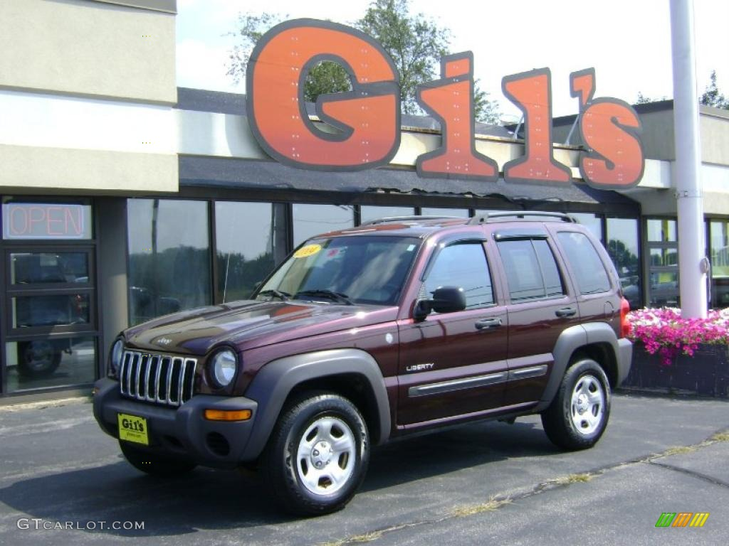 Deep Molten Red Pearl Jeep Liberty