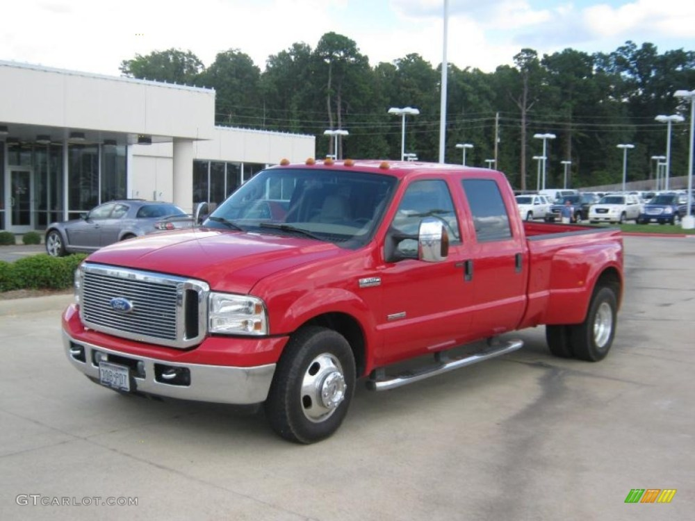 medium resolution of 2006 f350 super duty lariat crew cab dually red clearcoat tan photo 1