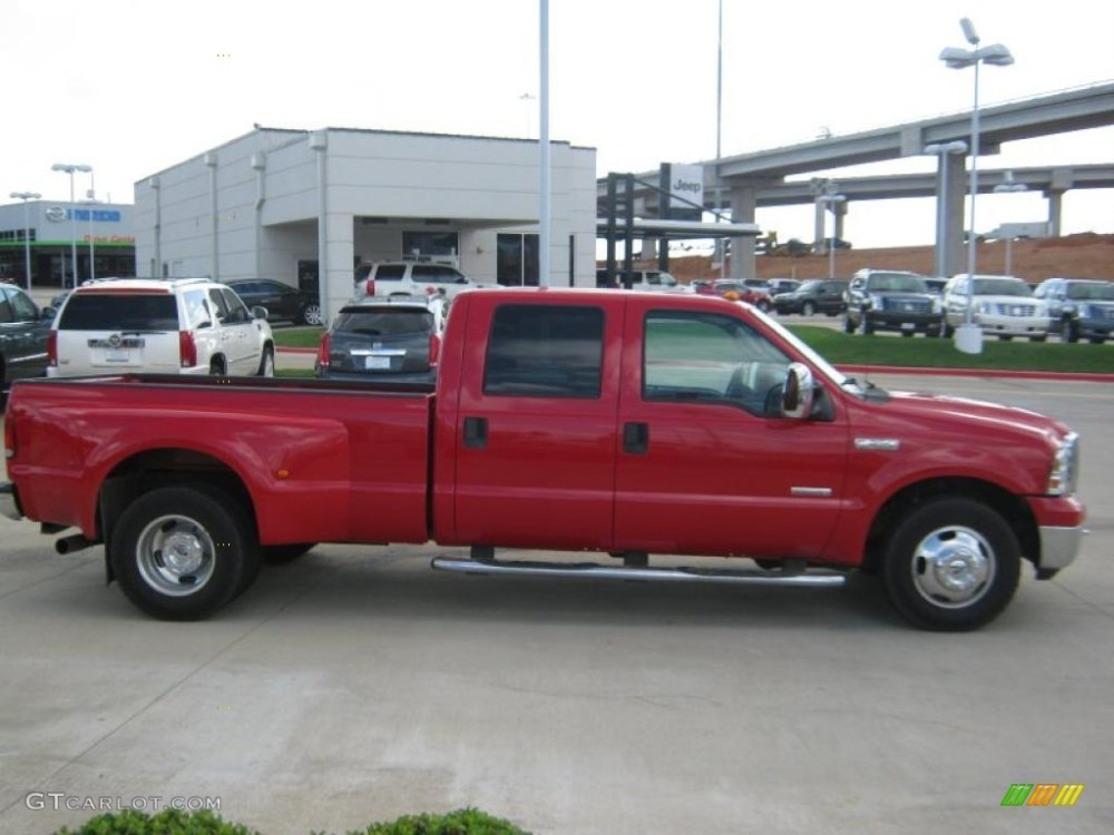 medium resolution of 2006 f350 super duty lariat crew cab dually red clearcoat tan photo 6