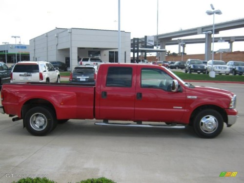 small resolution of 2006 f350 super duty lariat crew cab dually red clearcoat tan photo 6