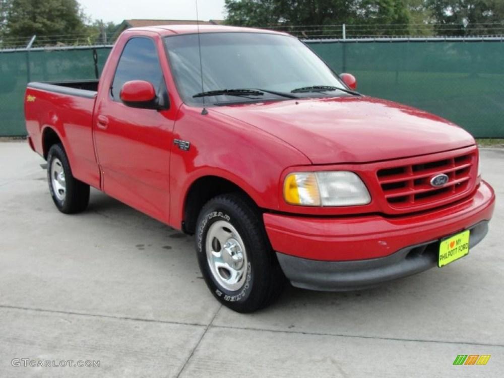 medium resolution of 2001 f150 xl sport regular cab bright red medium graphite photo 1