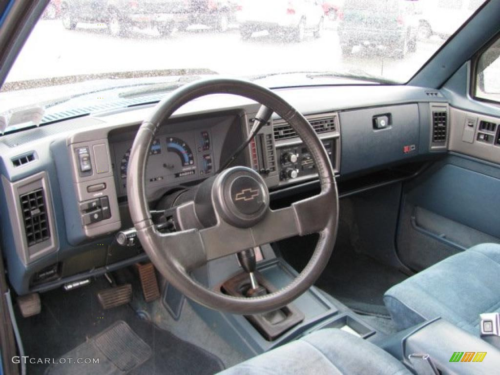 hight resolution of 1991 bright blue metallic chevrolet s10 blazer tahoe 4x4 37175095 photo 6