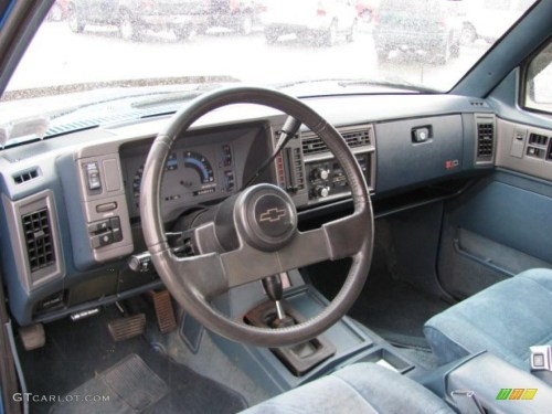 small resolution of 1991 bright blue metallic chevrolet s10 blazer tahoe 4x4 37175095 photo 6