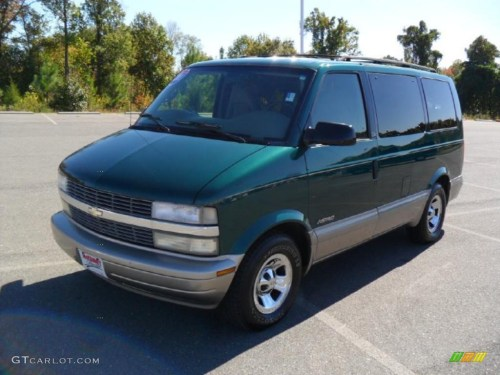 small resolution of 2001 astro passenger van dark forest green metallic pewter photo 1
