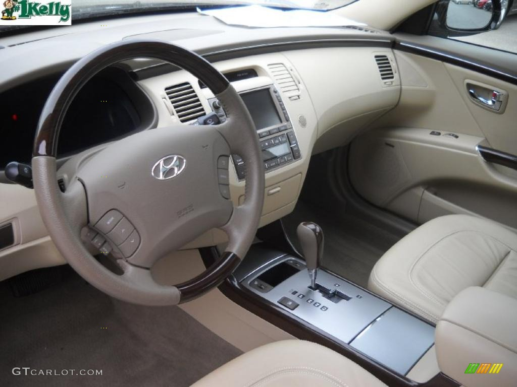 Beige Interior 2010 Hyundai Azera Limited Photo 39265175