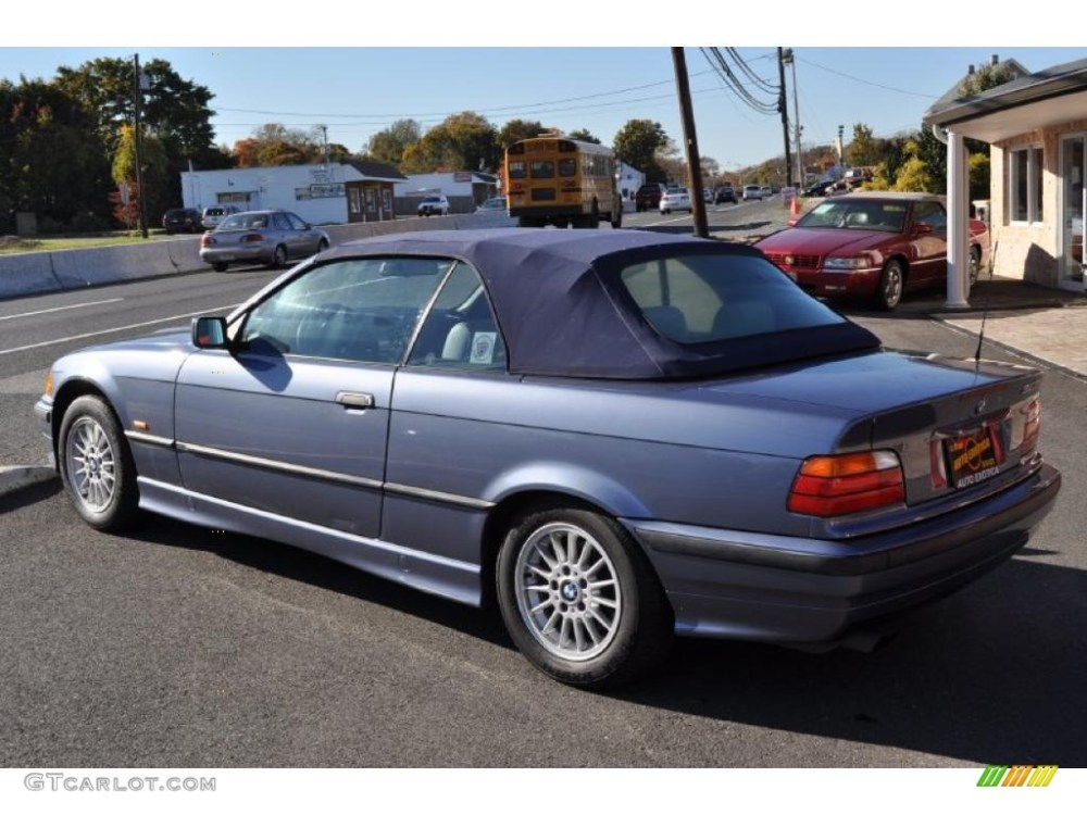 medium resolution of steel blue metallic 1999 bmw 3 series 323i convertible exterior photo 39305193