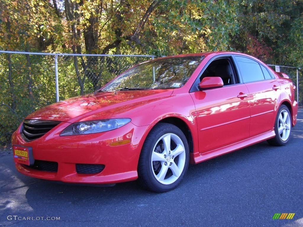 2005 Volcanic Red Mazda Mazda6 S Sport Hatchback #3938743