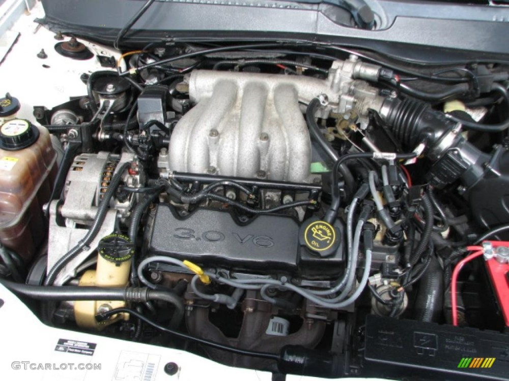 medium resolution of 2000 ford taurus lx 3 0 liter ohv 12 valve flex fuel v6 engine photo
