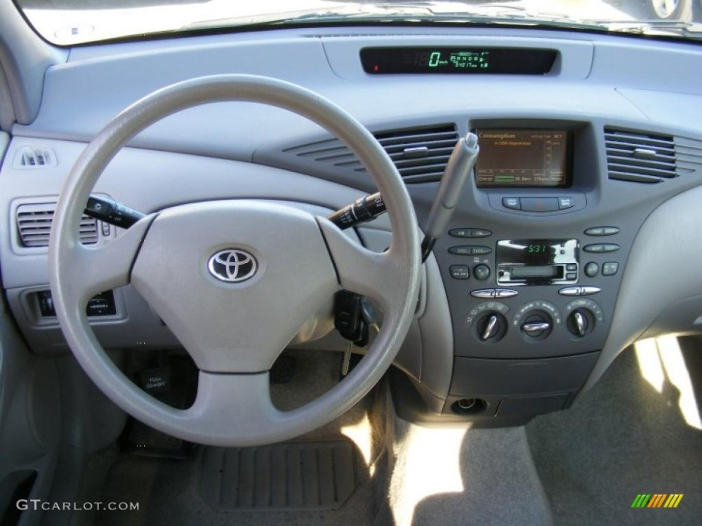 medium resolution of 2002 toyota prius hybrid gray dashboard photo 40593573