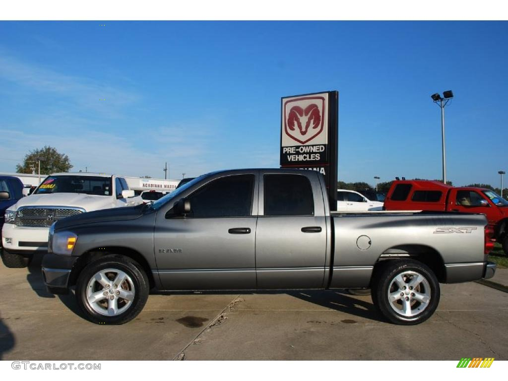 hight resolution of mineral gray metallic 2008 dodge ram 1500 sxt quad cab exterior photo 41039564