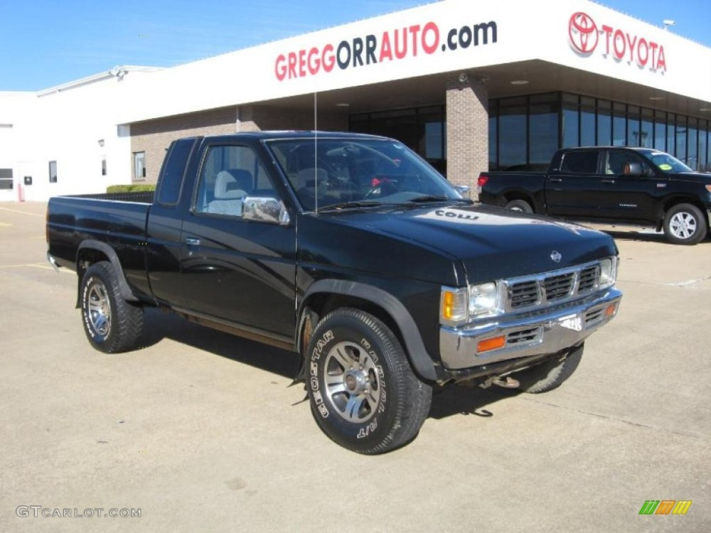 medium resolution of super black nissan hardbody truck