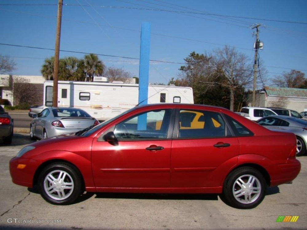 medium resolution of sangria red metallic 2003 ford focus se sedan exterior photo 42255725