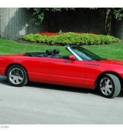 2002 thunderbird deluxe roadster torch red torch red photo 1 [ 1024 x 768 Pixel ]