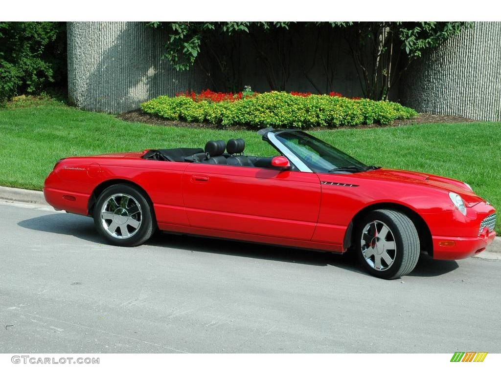 hight resolution of 2002 thunderbird deluxe roadster torch red torch red photo 1