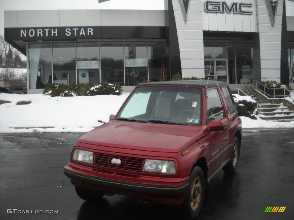 hight resolution of bright red geo tracker