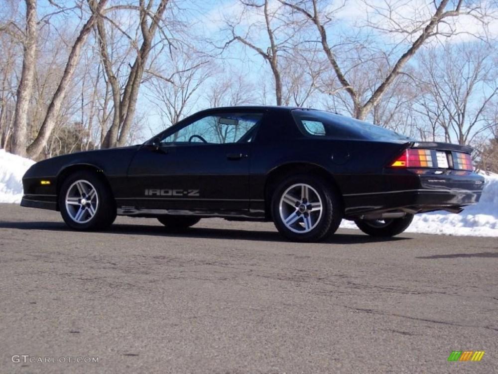 medium resolution of black 1985 chevrolet camaro iroc z exterior photo 44741207