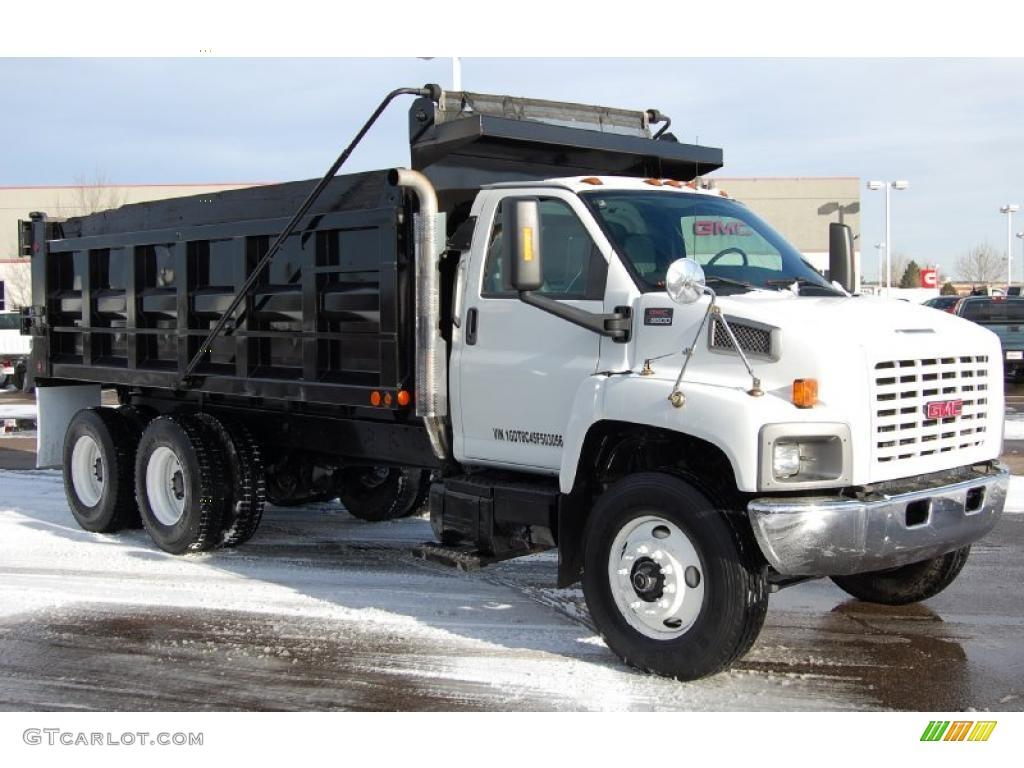 hight resolution of summit white 2005 gmc c series topkick c8500 regular cab dump truck exterior photo 44905888