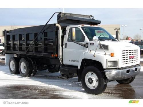 small resolution of summit white 2005 gmc c series topkick c8500 regular cab dump truck exterior photo 44905888