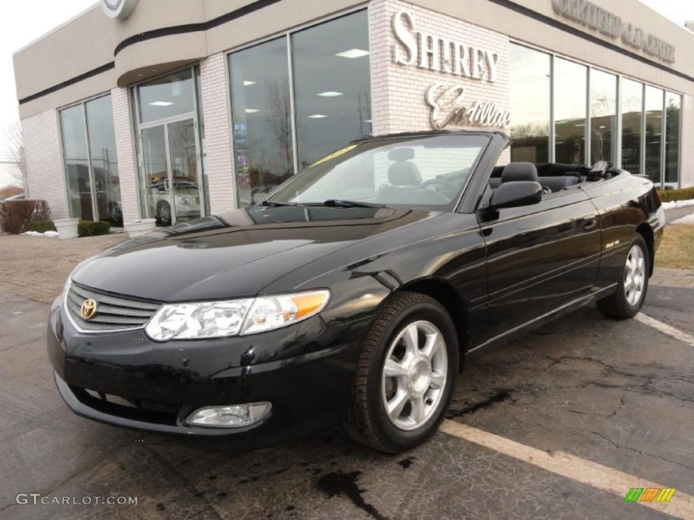 medium resolution of 2002 black sand pearl toyota solara sle v6 convertible 45394684