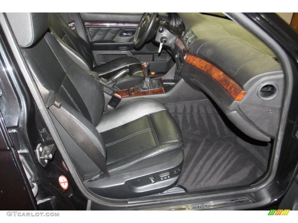 hight resolution of black interior 2000 bmw 5 series 540i sedan photo 46394245