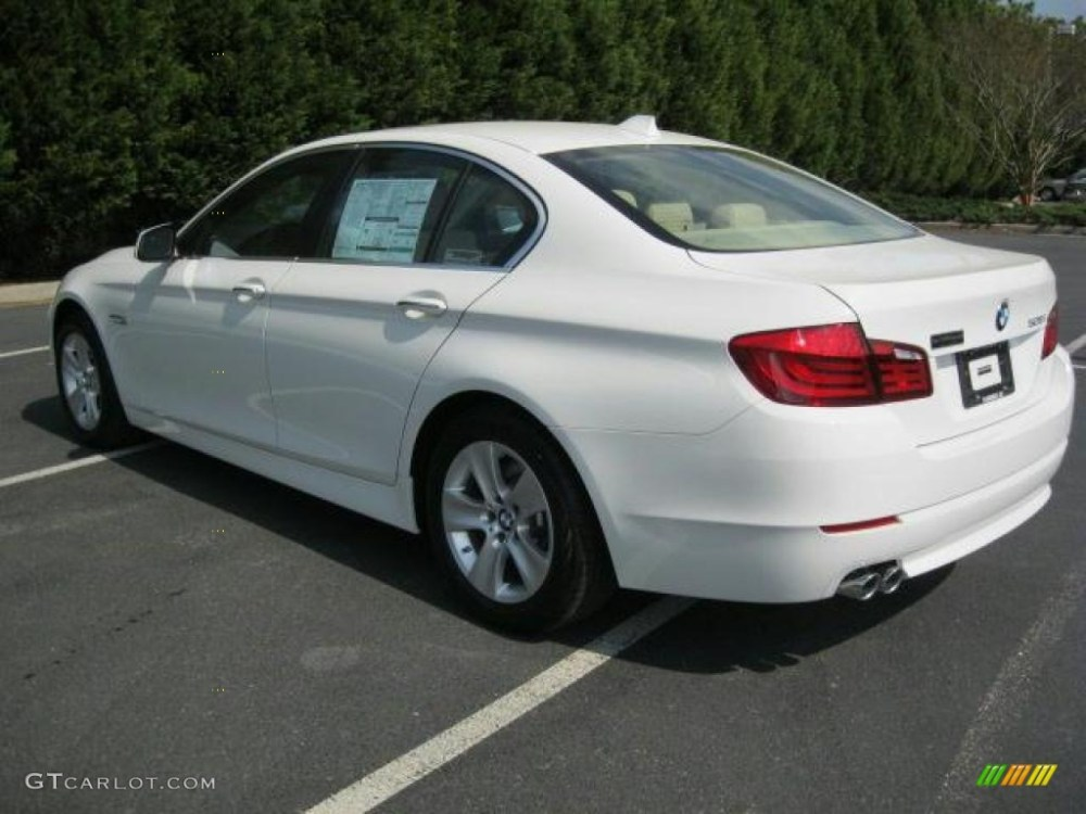 medium resolution of alpine white 2011 bmw 5 series 528i sedan exterior photo 47244476