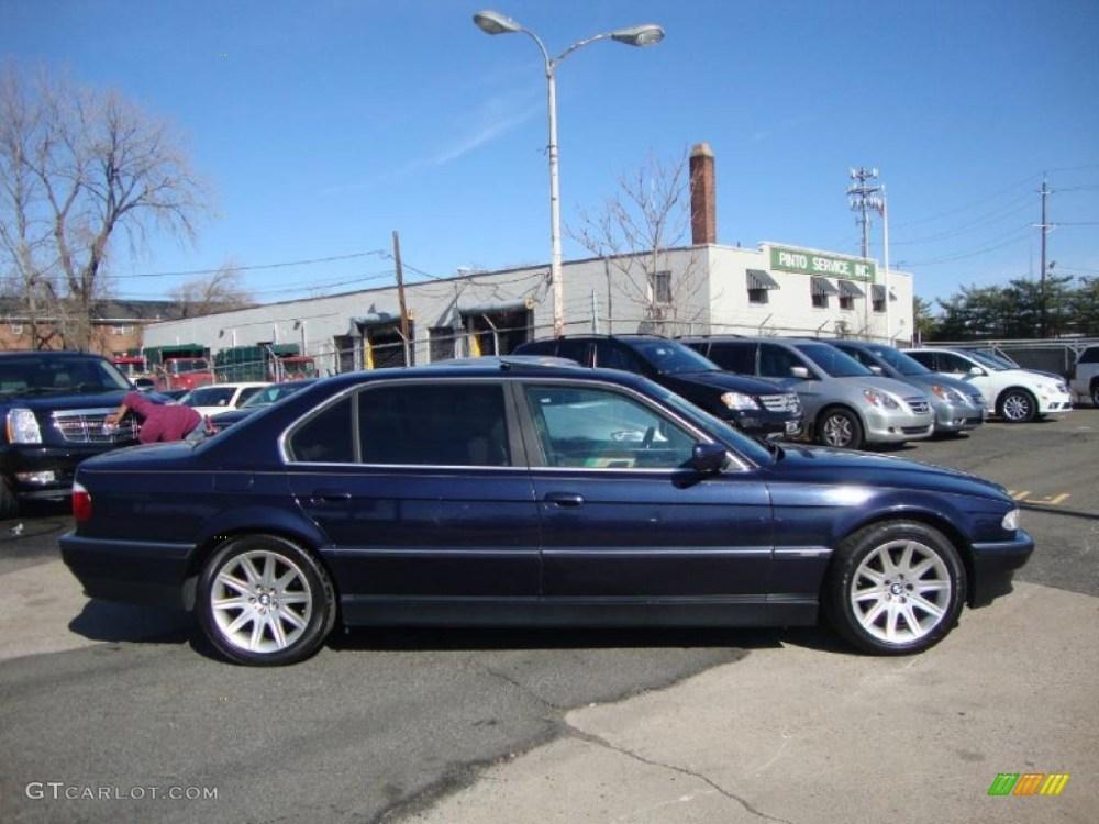 medium resolution of midnight blue 2000 bmw 7 series 740il sedan exterior photo 47310533