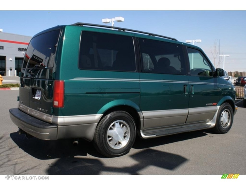 medium resolution of dark forest green metallic 2001 chevrolet astro lt awd passenger van exterior photo 47363540
