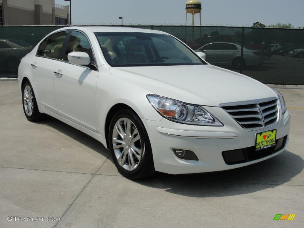 hight resolution of white satin pearl hyundai genesis hyundai genesis 3 8 sedan