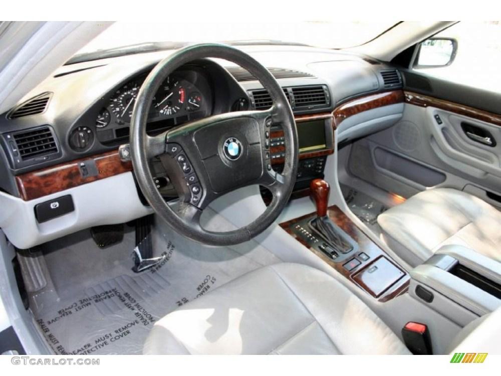 medium resolution of grey interior 2000 bmw 7 series 740il sedan photo 48223964