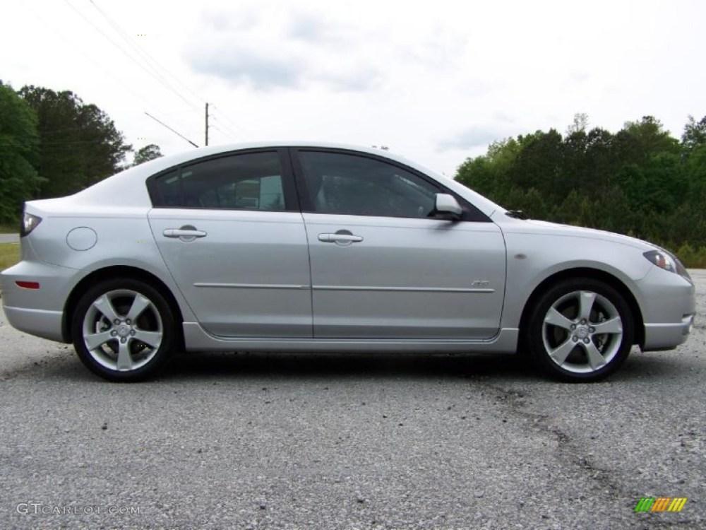 medium resolution of sunlight silver metallic 2005 mazda mazda3 s sedan exterior photo 48392715