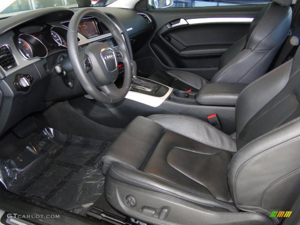 hight resolution of black interior 2010 audi a5 3 2 quattro coupe photo 49005392